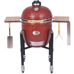 Holzkohlegrill Monolith Classic Pro-Serie 1.0, rot mit Gestell